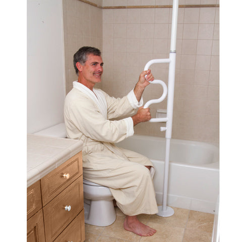 Stander Security Pole & Curve Grab Bar - HOHOLIFE