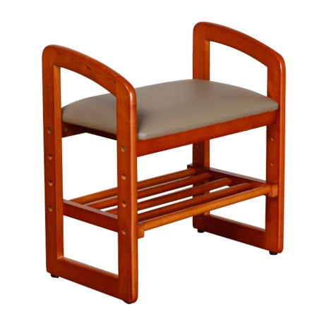 Hardwood Stool with High Handle - HOHOLIFE