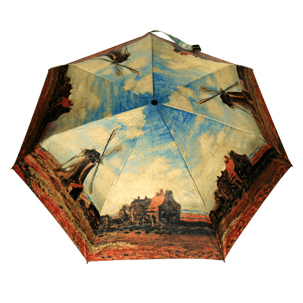 Cane Umbrella- Monet – Tulip Fields with the Rijnsburg Windmill - HOHOLIFE