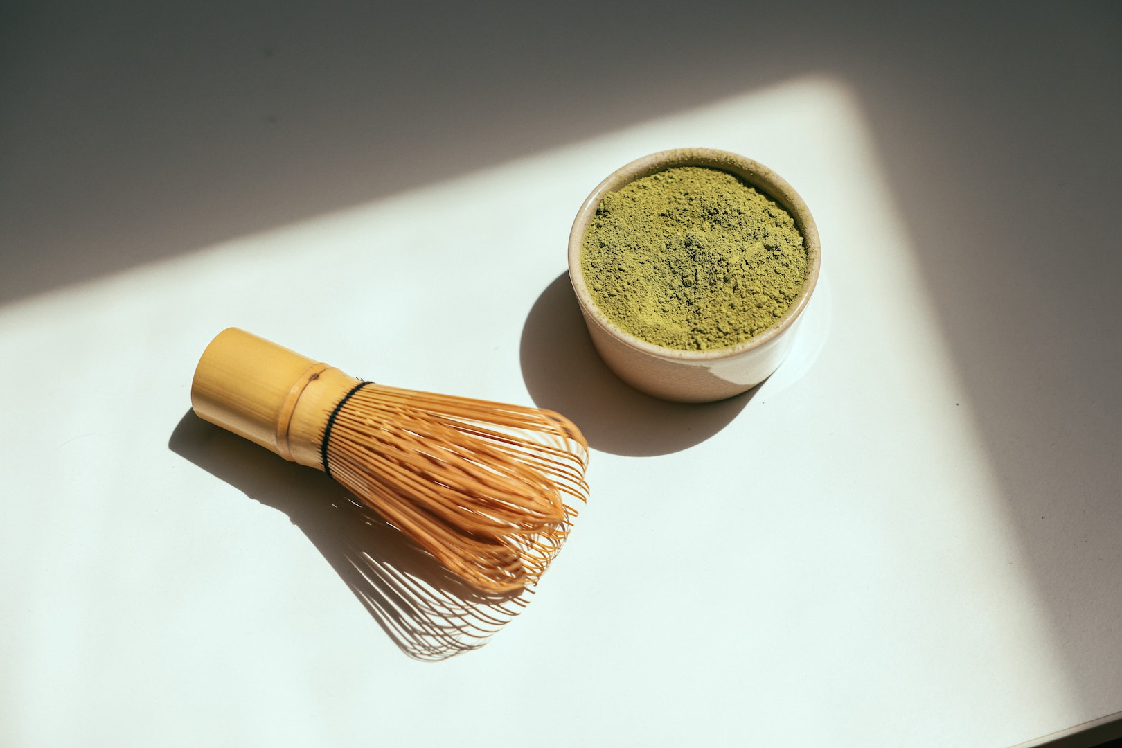 Image of matcha, used for LĒVO's DIY coconut oil face mask recipe.