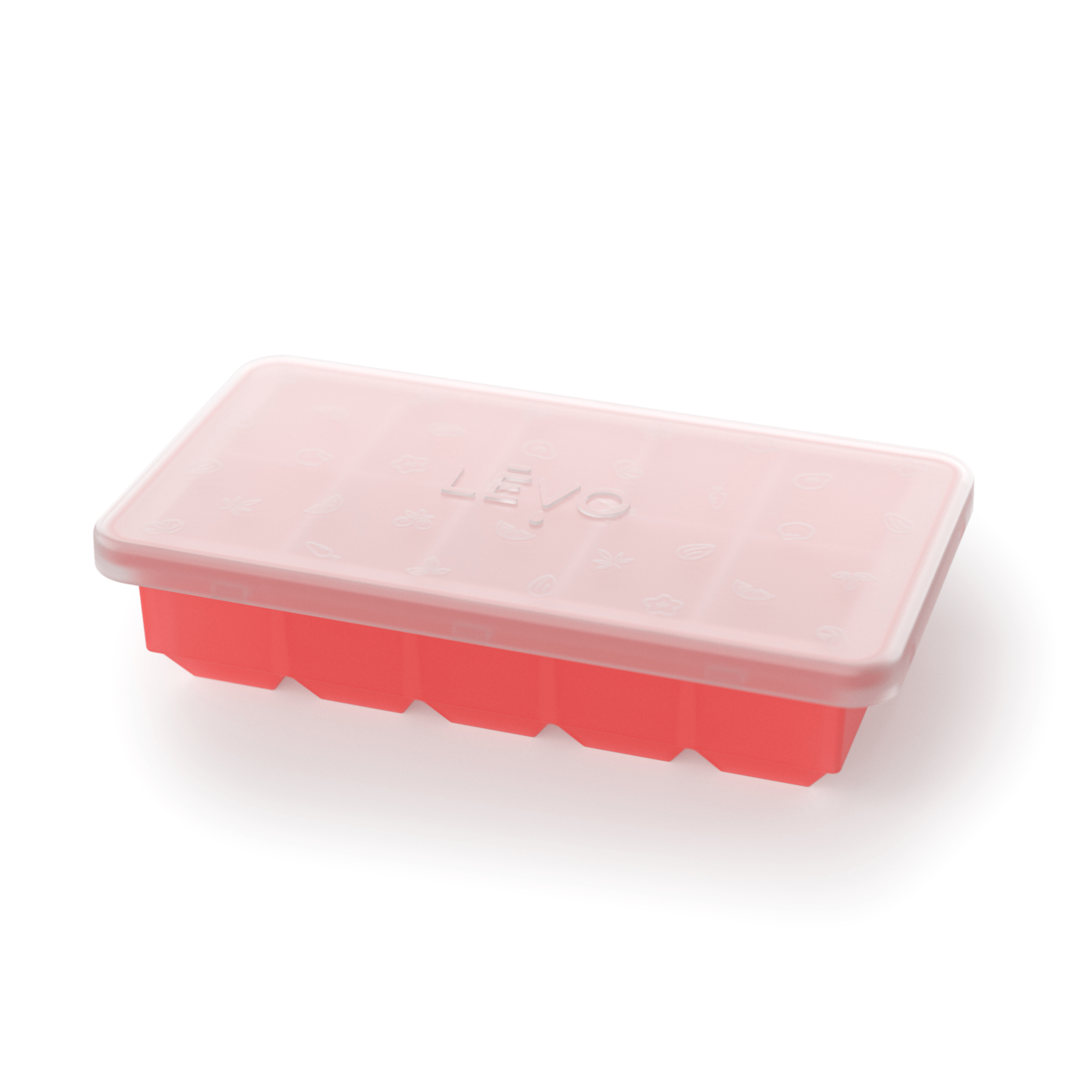 LEVO Oil Herb Block Storage Tray in red.