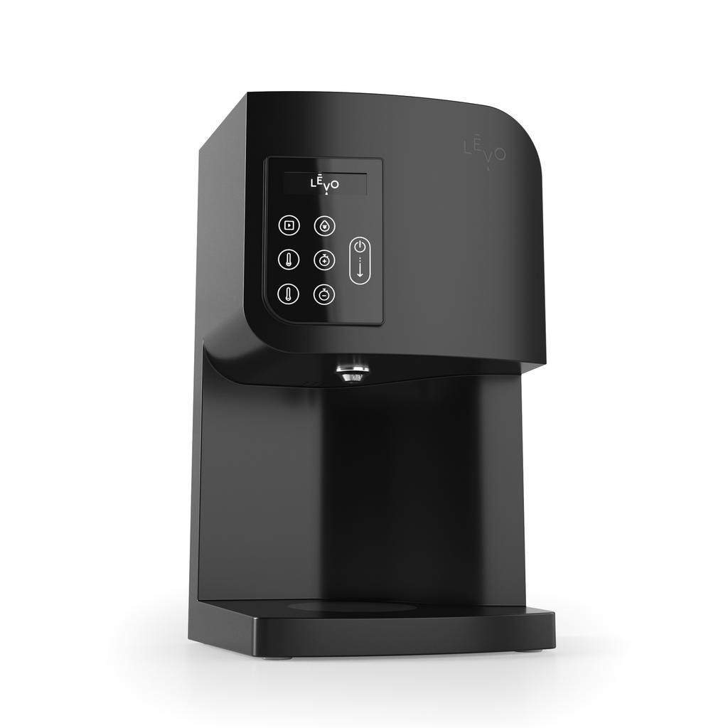 LEVO I Oil Infusion Machine in Black, front view.