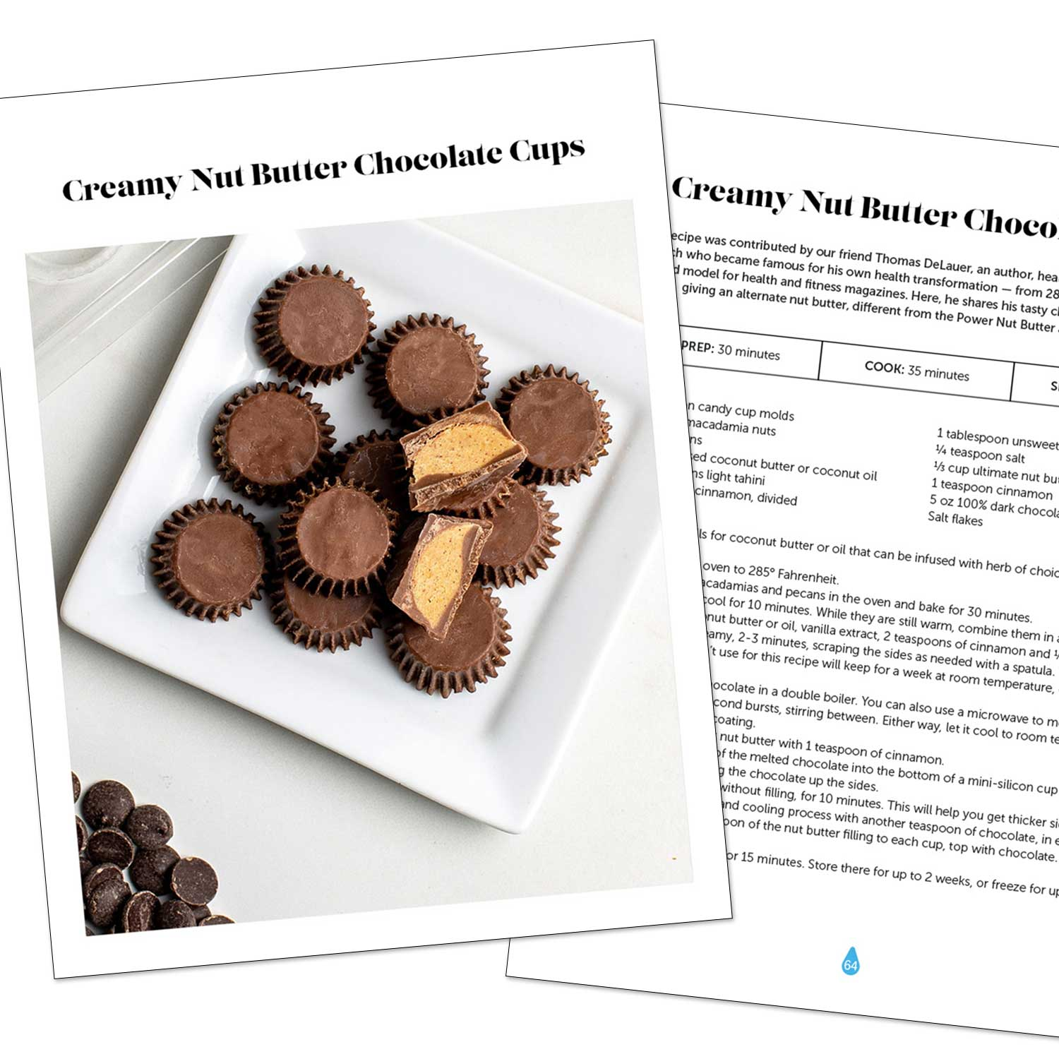 Cookbook pages: Creamy nut butter cups with LEVO infused butter