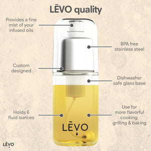 LEVO quality fine mist infusion sprayer for oil, butter, water, juice, and more.
