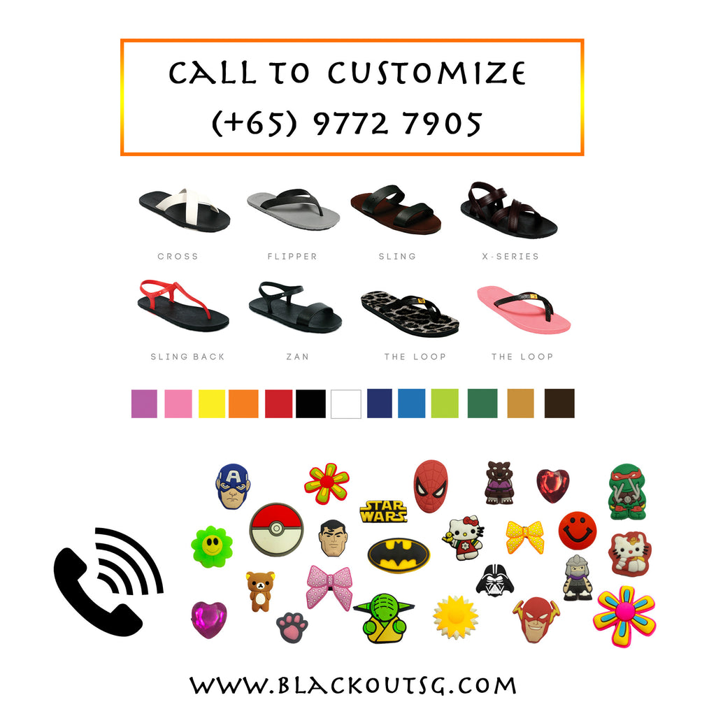 Customize your sandals/flip-flops over the phone - Doorstep delivery