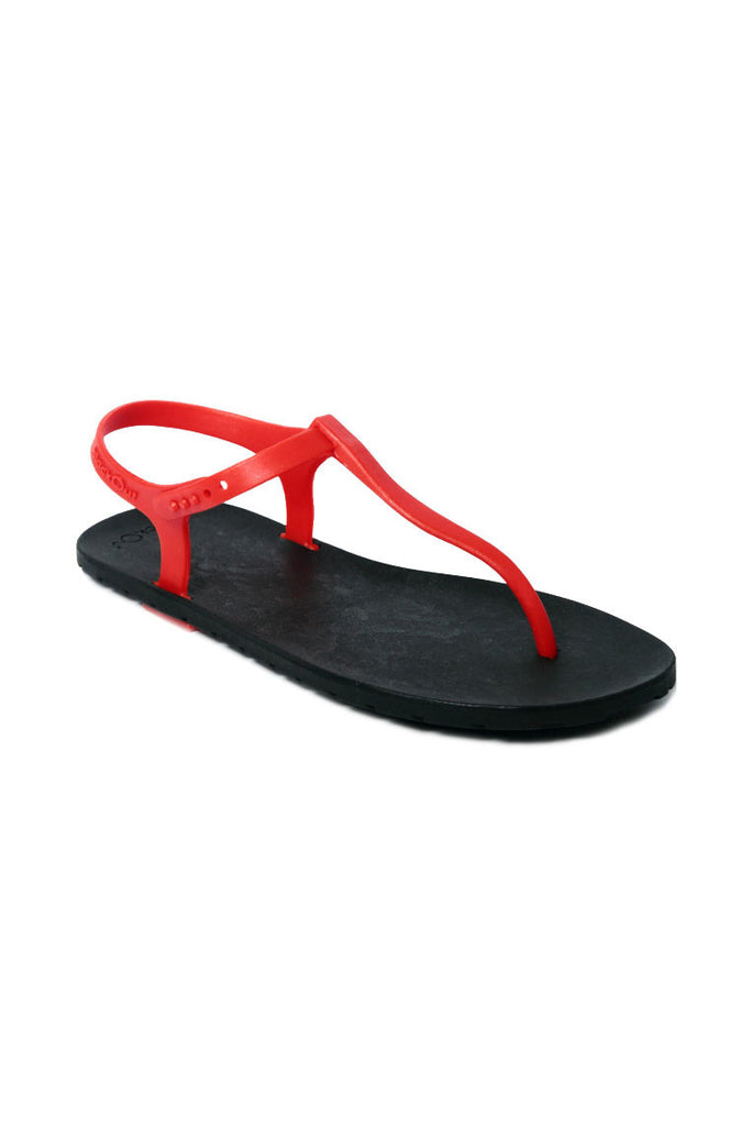 Slingback Black x Red