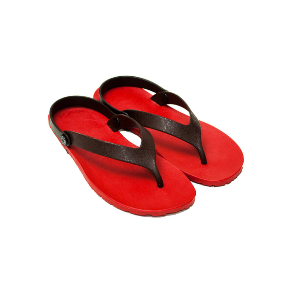 Boat Flippers Red x Brown