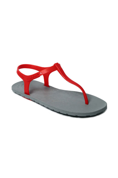 Slingback Grey x Red