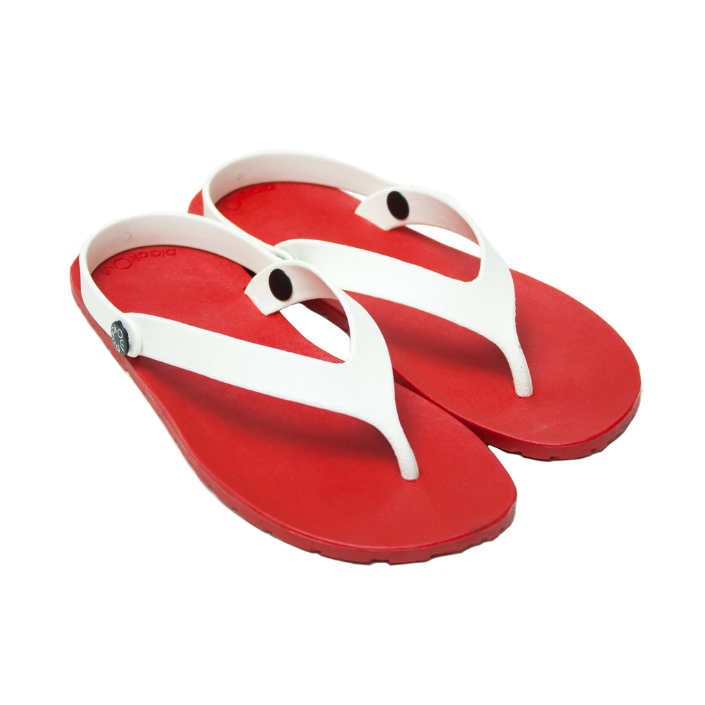 Boat Flippers Red x White