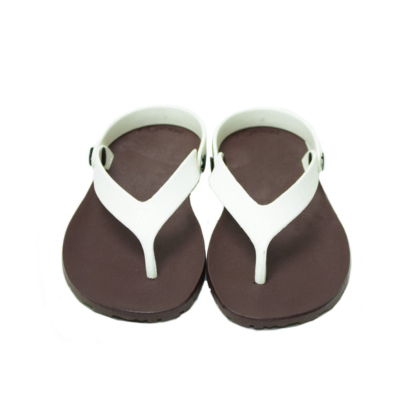 Boat Flippers Brown x White
