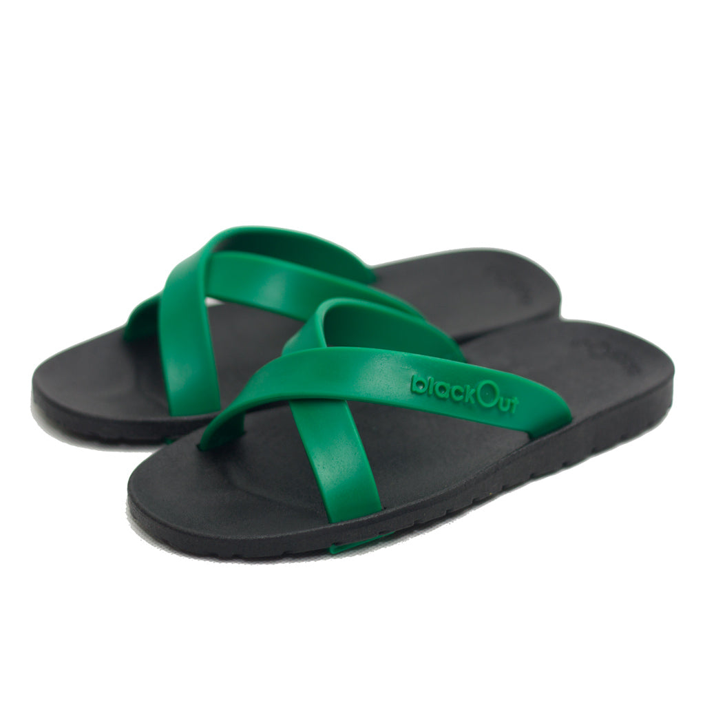 Kids Cross Black x Dark Green