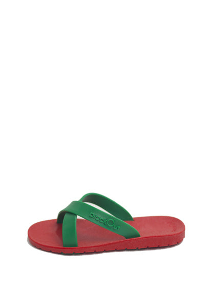 Kids Cross Red x Dark Green