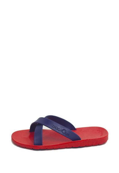 Kids Cross Red x Navy Blue