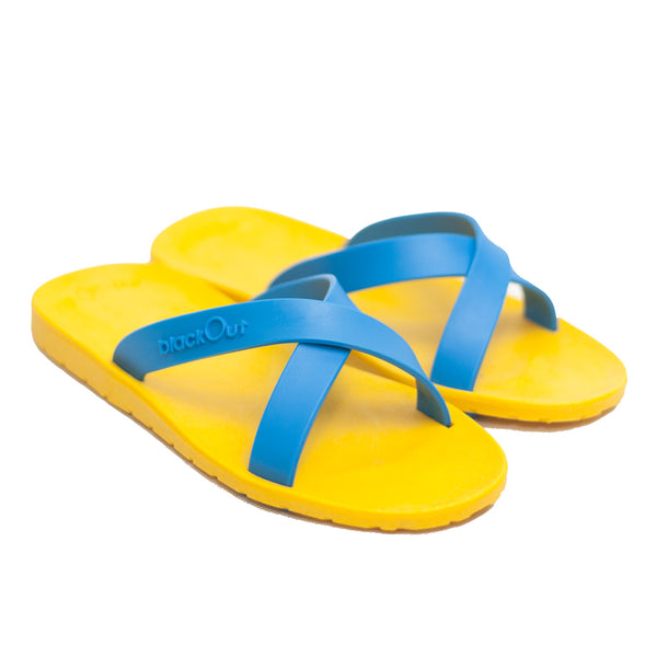 Kids Cross Mustard x Light Blue