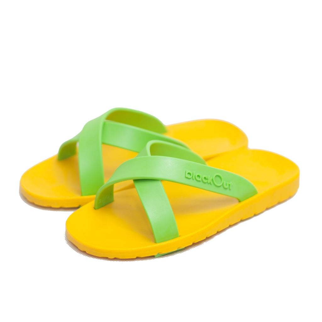 Kids Cross Mustard x Light Green