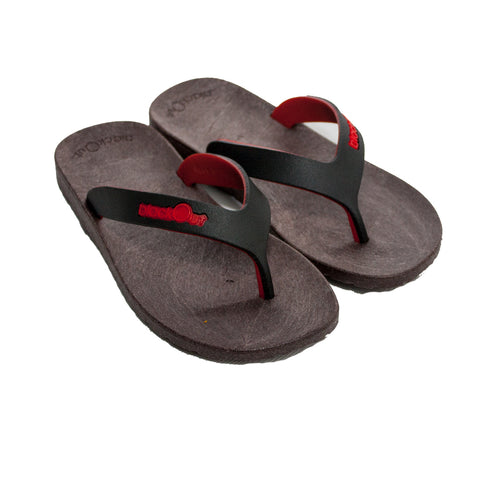 Kids Flippers Brown x Black & Red