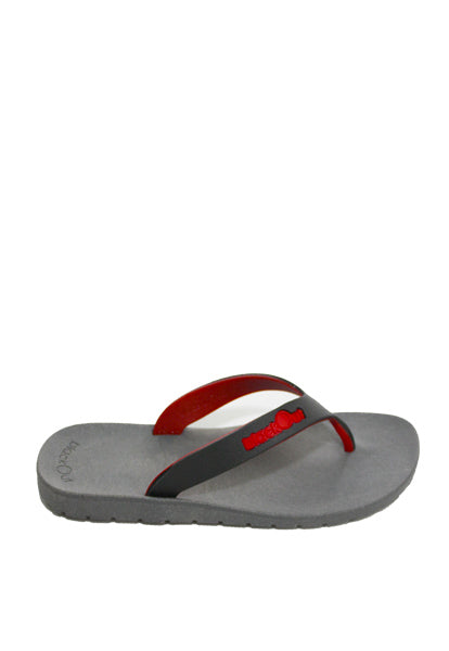 Kids Flippers Grey x Black & Red