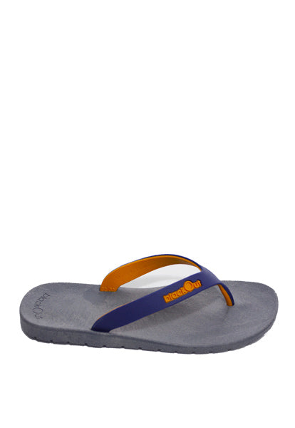 Kids Flippers Grey x Navy Blue & Mustard