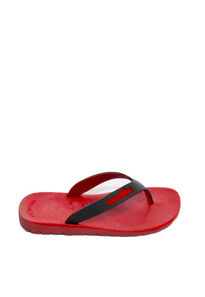 Kids Flippers Red x Black & Red