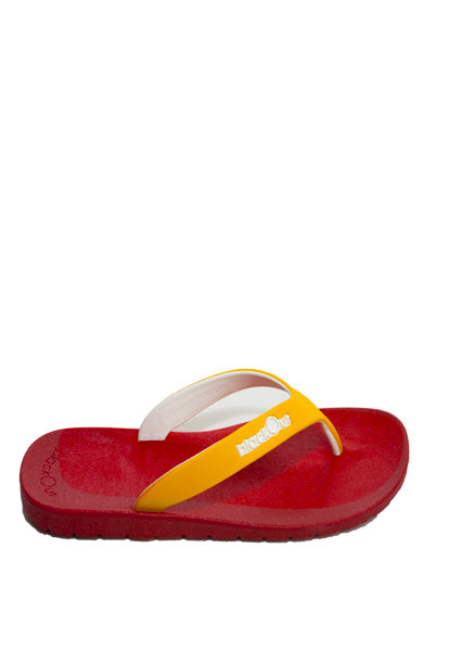 Kids Flippers Red x Yellow & White