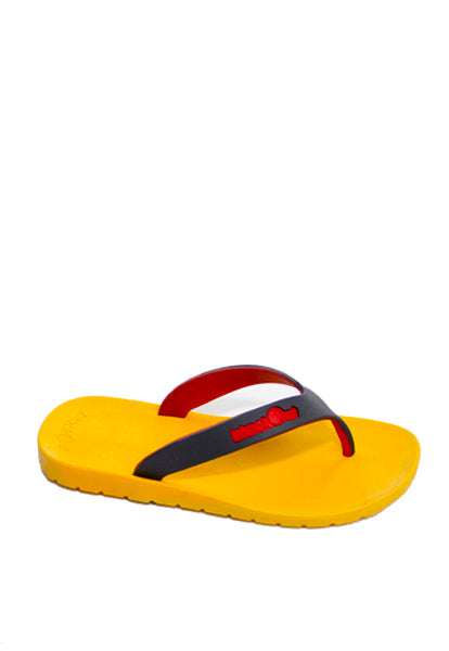 Kids Flippers Yellow x Black & Red