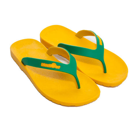 Kids Flippers Yellow x Green & Yellow