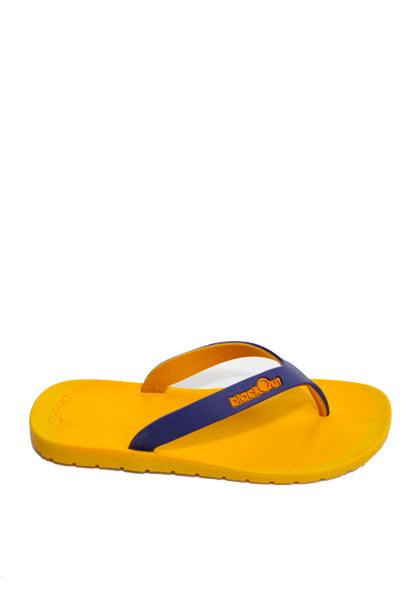 Kids Flippers Yellow x Navy Blue & Mustard