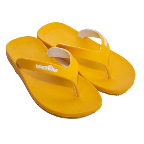 Kids Flippers Yellow x Yellow & White