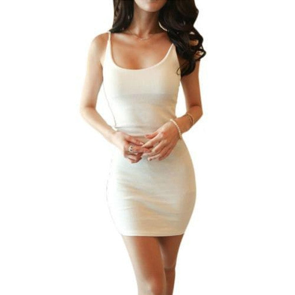 Slim and Simple Body Con Dress-Dress-Mulu