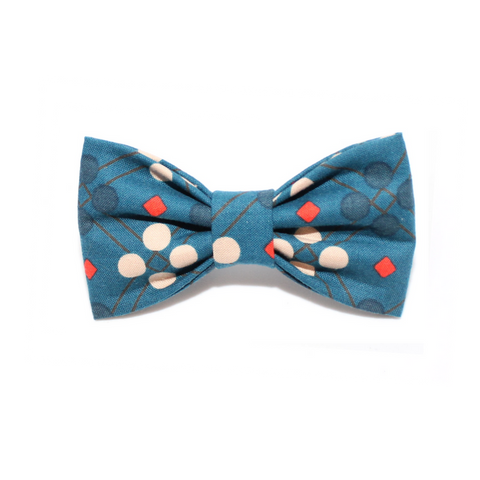 dog bow tie blue polka dots