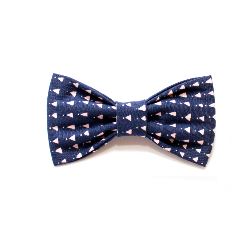 dog bow tie navy pink