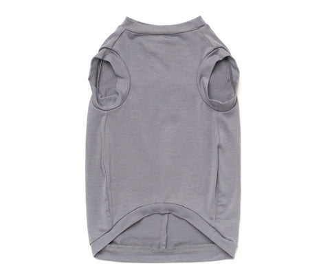 Bosspup Classic Dog Tank - Grey - BOSSPUP