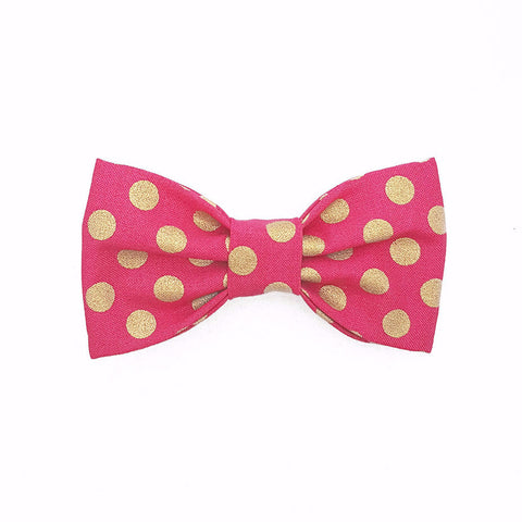 Bosspup Bow Tie - Pink Polka