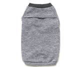 Grey rib sweatshirt for dogs backside
