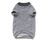 Grey rib sweatshirt for dogs