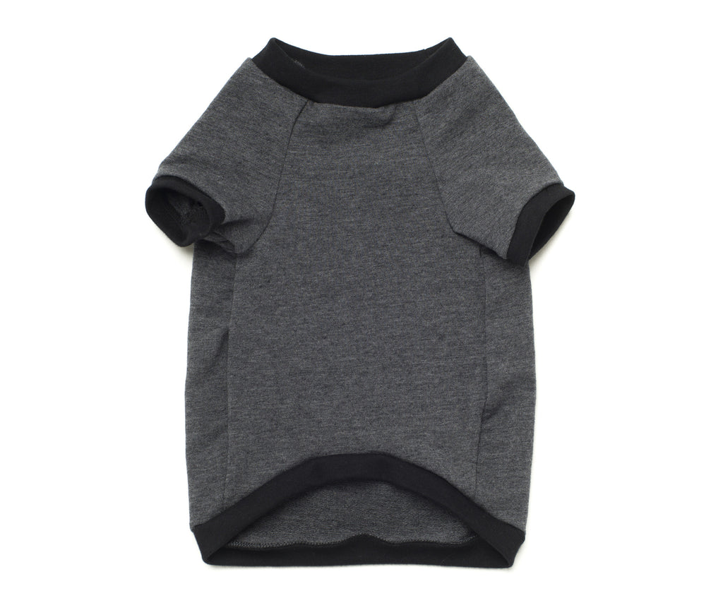 baseball top for dogs grey
