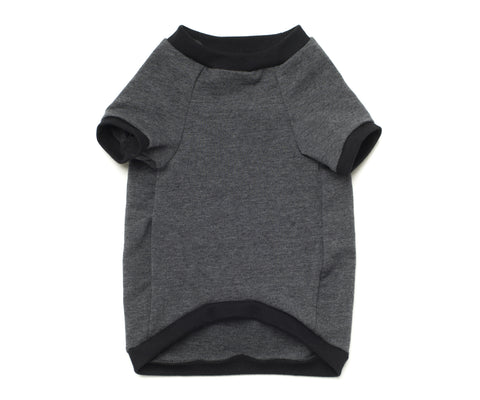 baseball top for french bulldog grey