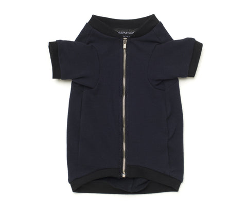 navy and black rib jacket for dogs