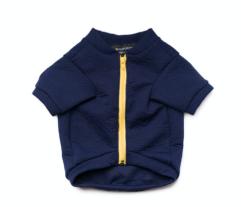 Hey Preppy Jacket - Navy + Yellow