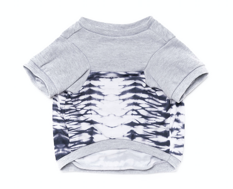 Colorblock Pup Shirt - Grey + Tie Dye - BOSSPUP