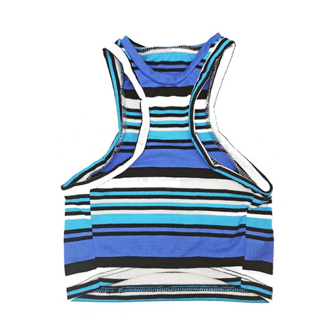 Beachy Bro Tank Top - Navy Stripe
