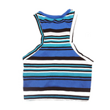 Beachy Bro Dog Tank Top - Navy Stripe - BOSSPUP