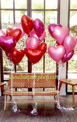 Helium Love & Star Foil Balloon