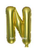 Gold Letter Balloon 40cm, Without Helium