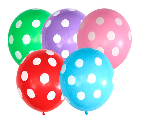 Polka Dot Latex Balloon 10 Inches