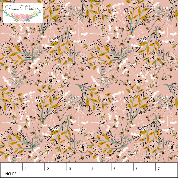 Bee Forest Dusty Pink ~ Rayon