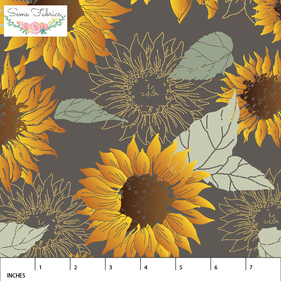 Sunflowers In Storm ~ Rayon