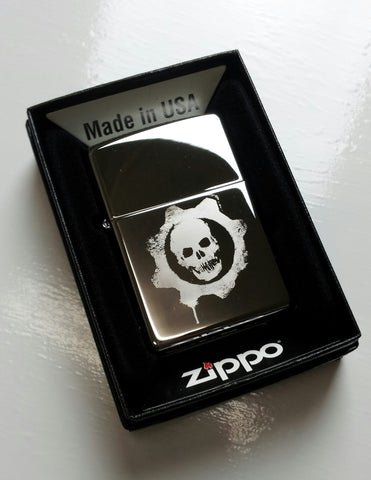Gears of War Crimson Omen Classic Chrome Zippo Lighter