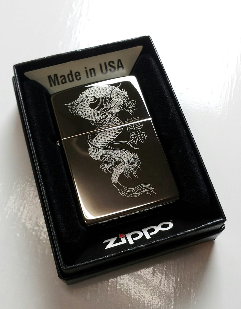 Chinese Dragon Classic Chrome Zippo Lighter