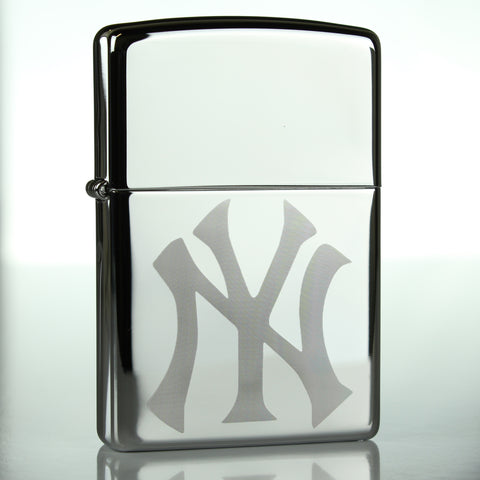 NY Yankees Classic Chrome Zippo Lighter